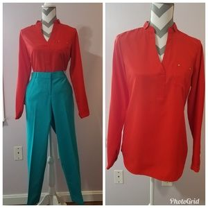 NWOT The Limited Orange Blouse